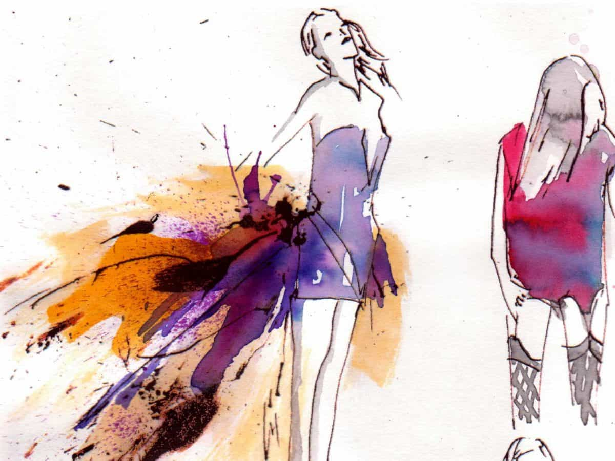 Ink and watercolour animation by Sharon Liu