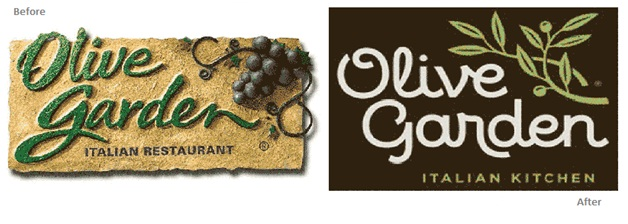 Current Olive Garden Menu: 15 Major Logo Revamps In 2014 That You Might Have Missed