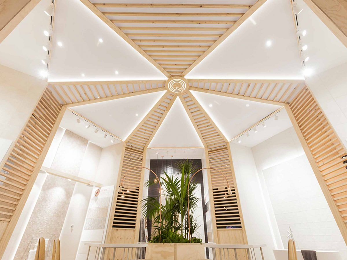 Blooming House exhibition space designed by VXLAB