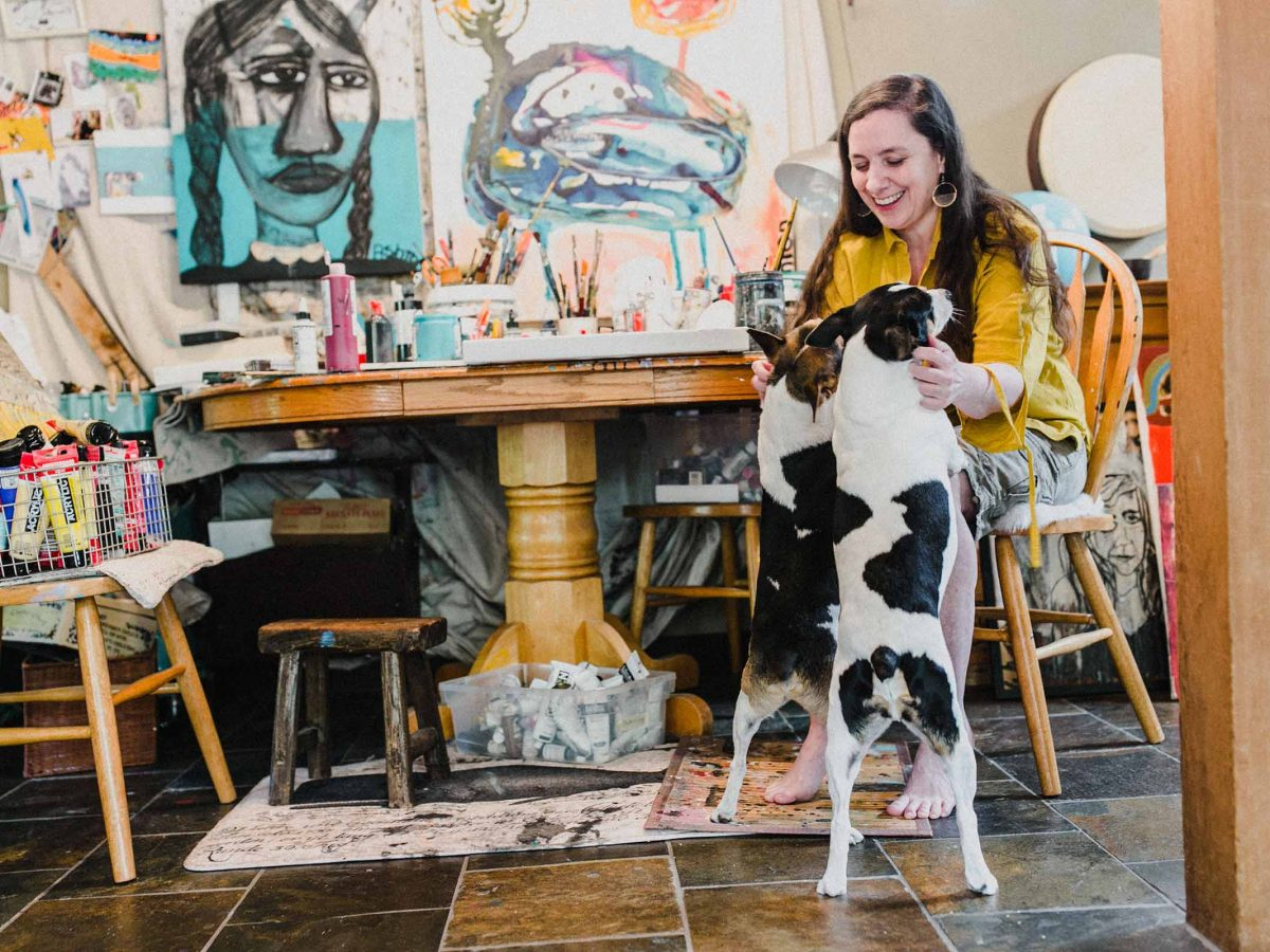 """""""The key is to drop all expectation around the outcome of your work, and really enjoy being in the moment"""" artist Jenn Ashton"""