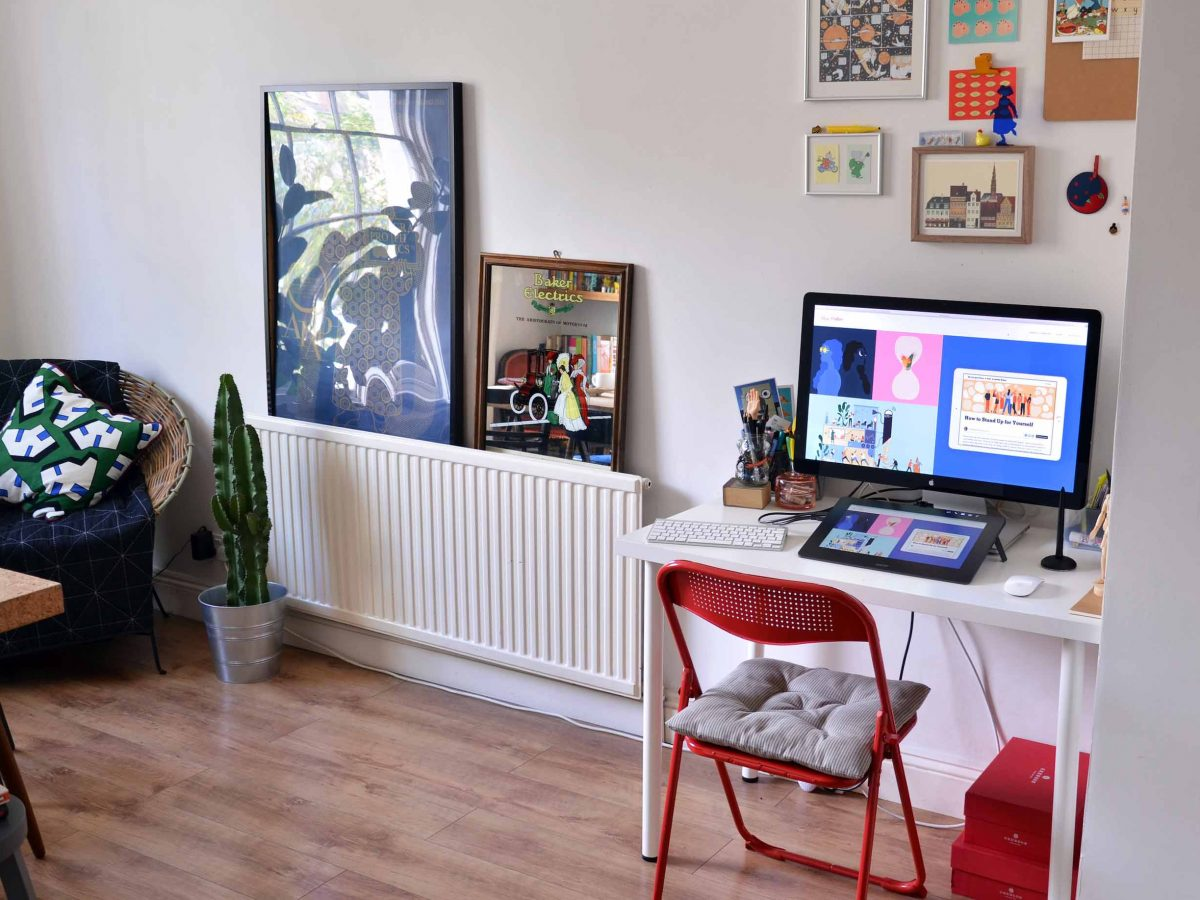"""""""It's important to me that my workspace feels personal, colourful and joyful"""" Illustrator Alice Mollon"""